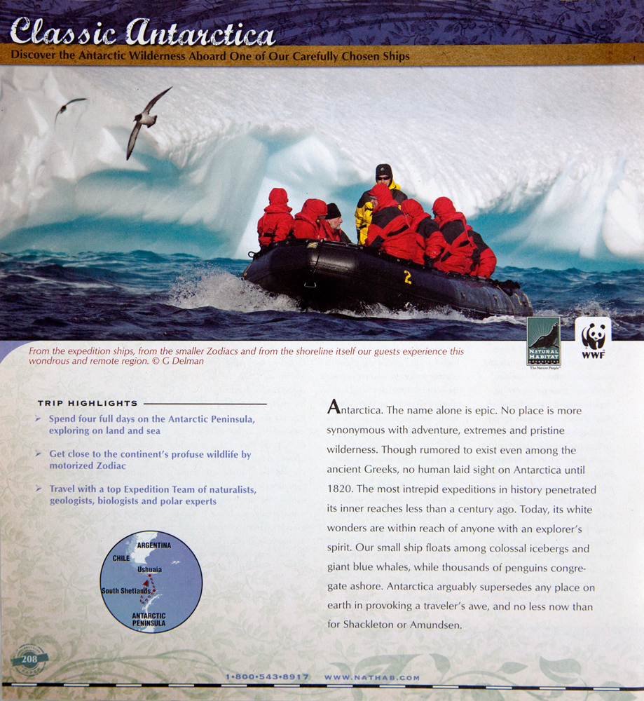 Natural Habitat Adventures 2011-2012 catalog
