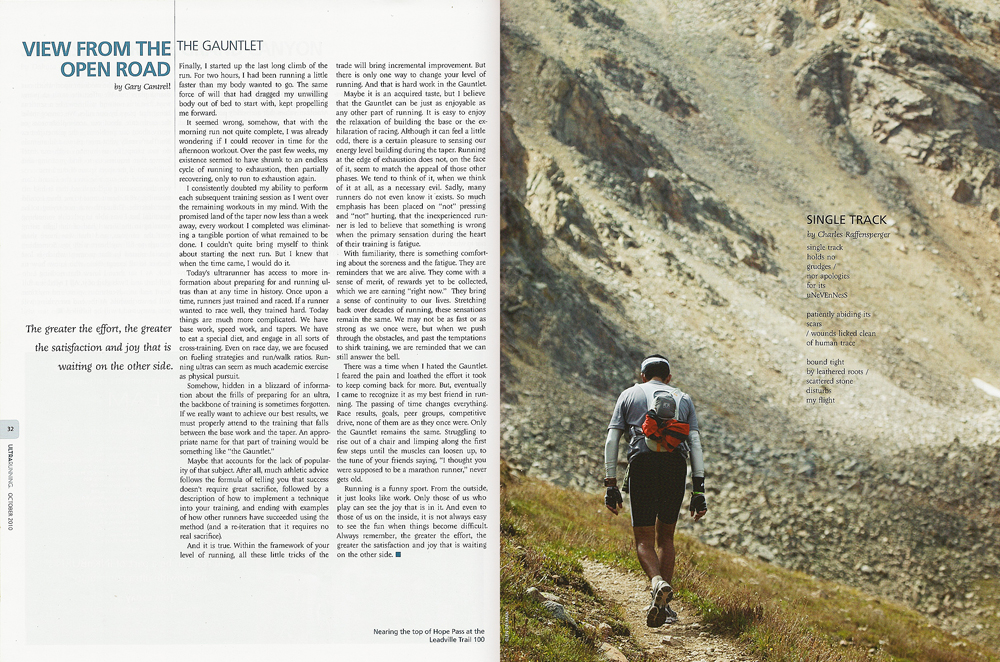 Ultrarunner October 2010